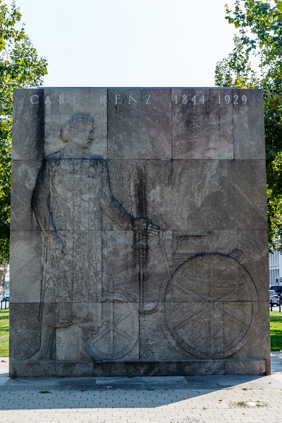 Carl Benz monument in Mannheim, Baden-Württemberg, Germany, Europe