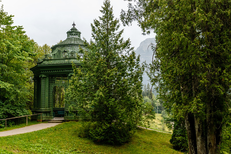 Music Pavilion in the park of Linderhof Palace , Bavaria, Germany, Europe