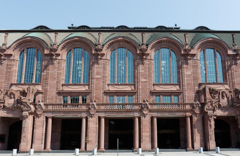Facade of the Congress Center Rosengarten in Mannheim, Baden-Württemberg, Germany