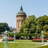 Water tower Mannheim, Baden-Württemberg, Germany
