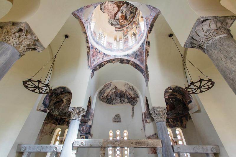 ATHENS. ANCIENT AGORA. AGII APOSTOLI (HOLY APOSTLES) CHURCH. INTERIOR.