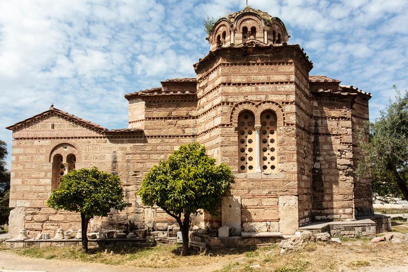 ATHENS. ANCIENT AGORA. AGII APOSTOLI (HOLY APOSTLES) CHURCH. FACADE.