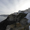 SANTORINI. OIA. IA. HOUSES ON THE CLIFF.