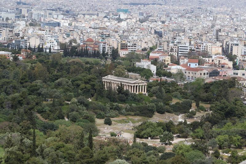 ATHENS. ACROPOLIS. VIEW AT ANCIENT AGORA.