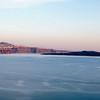 SANTORINI. VIEW FROM OIA. IA. THE CYCLADES. GREECE.