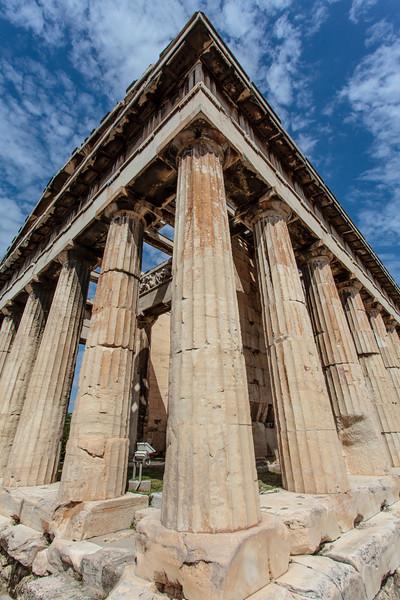 ATHENS. ANCIENT AGORA. THE DORIC TEMPLE OF HEPHAESTUS.