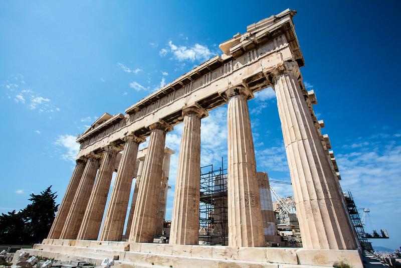 ATHENS. ACROPOLIS. PARTHENON TEMPLE.