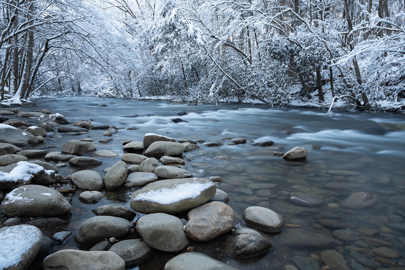"""""""River Rocks And Snow"""""""