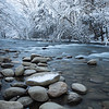 """River Rocks And Snow"""