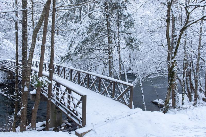 """""""Snowy Smokies Bridge"""""""