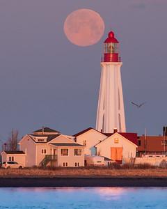 Pleine lune au phare