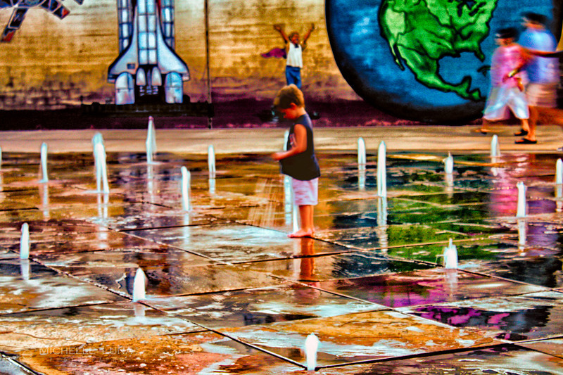 Cooling Off - Bricktown, Oklahoma City, OK