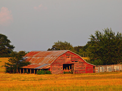 2011 Texas State Fair Honorable Mention - Rural Scenes  Old Barn in Color - Yantis, Texas  Order Code: A34