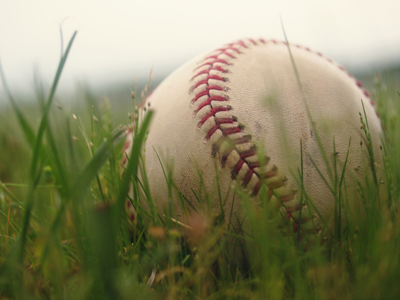 Macro Baseball - This baseball was actually caught by Troy at a Texas Rangers baseball game.  Order Code: A23