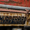 "Not a car, but an old truck sports the Thunderbird name. Red paint turns to red rust, while blue letters peel and are eaten away, in Yamhill. <br /> <br /> Metal print with float mount<br /> 8"" x 12""<br /> $70<br /> <br /> 131"