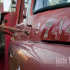 "A classic fire engine beginning to peel and rust despite careful care in a Yamhill parking lot. A friend and I climbed onto this truck and failed to act our age after margaritas one evening last summer. <br /> <br /> Metal print with float mount<br /> 8"" x 12""<br /> $70<br /> <br /> 127"