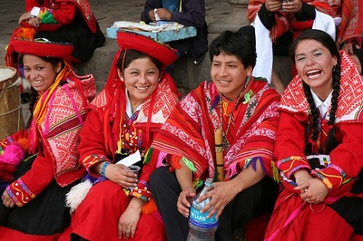 Waiting to dance in Cuzco