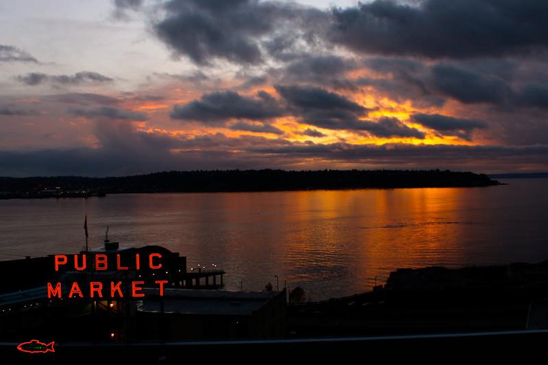 Sunset on Elliott Bay