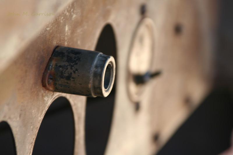 Not Moving - Joshua Tree National Park, CA<br /> Detail of abandoned car at old mining facility.