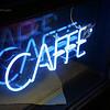 Neon sign in a cafe window - Roma, Italia