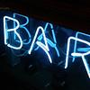 Neon sign in a bar window - Roma, Italia