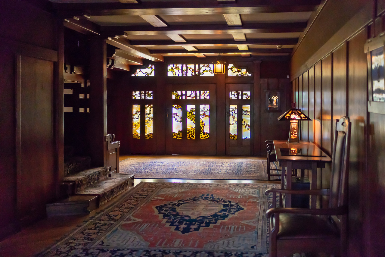 Central entrance hall of the Gamble House