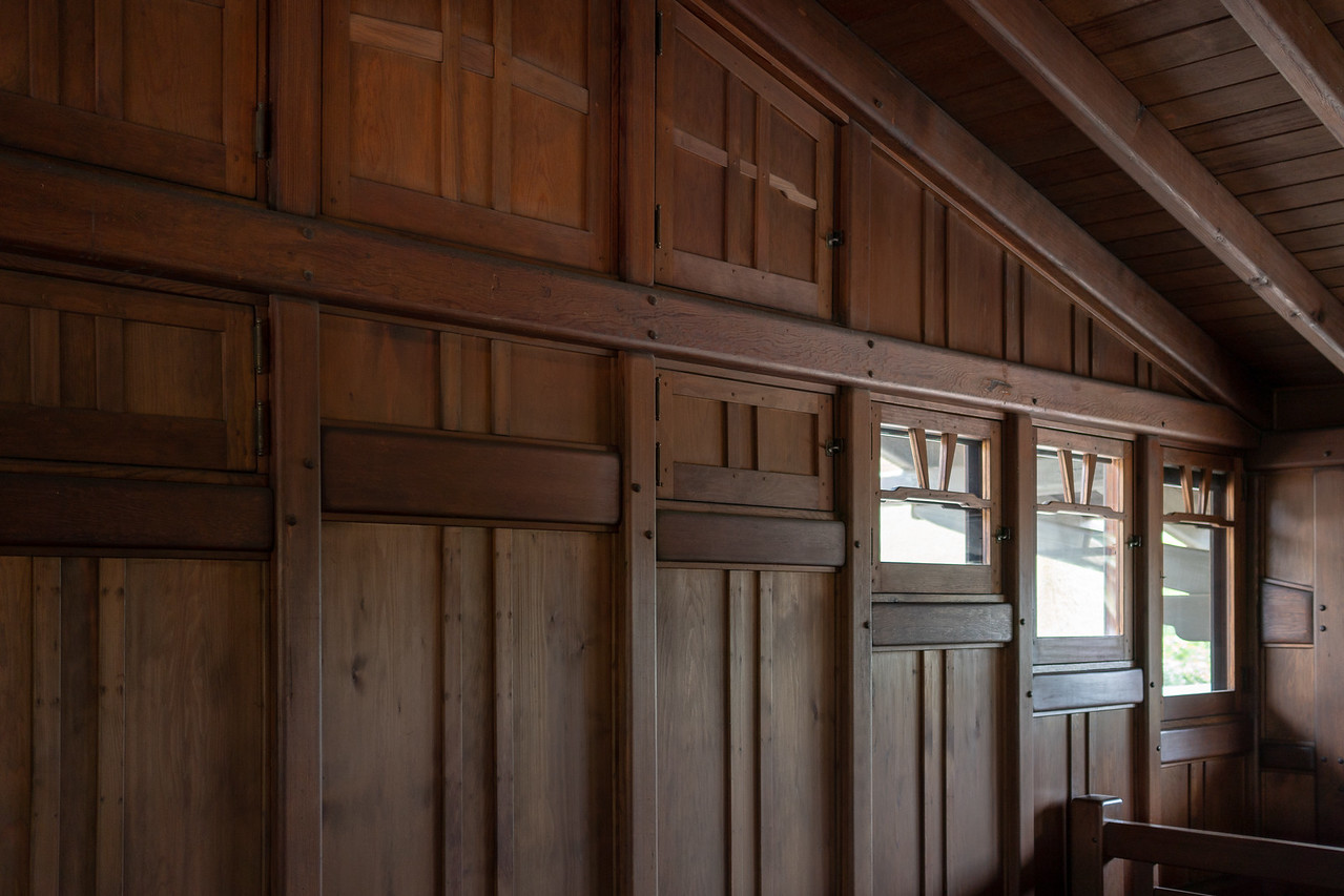 The attic, or Billiard Room, of Gamble House
