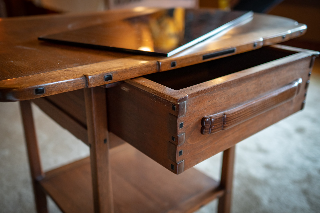 Close up of drawer at the Gamble House