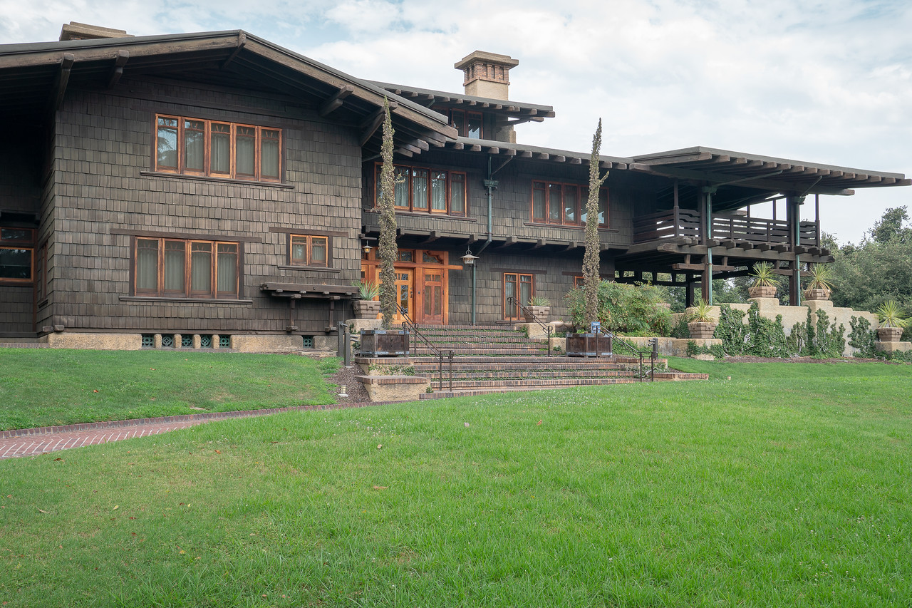 The Gamble House as seen from Westmorland Place