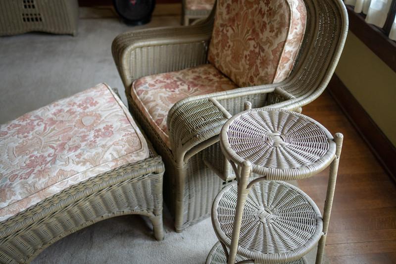 Aunt Julia's wicker furniture designed by Greene and Greene