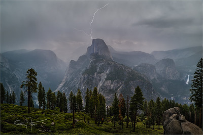 Lightning Strike, Half Dome, Yosemite