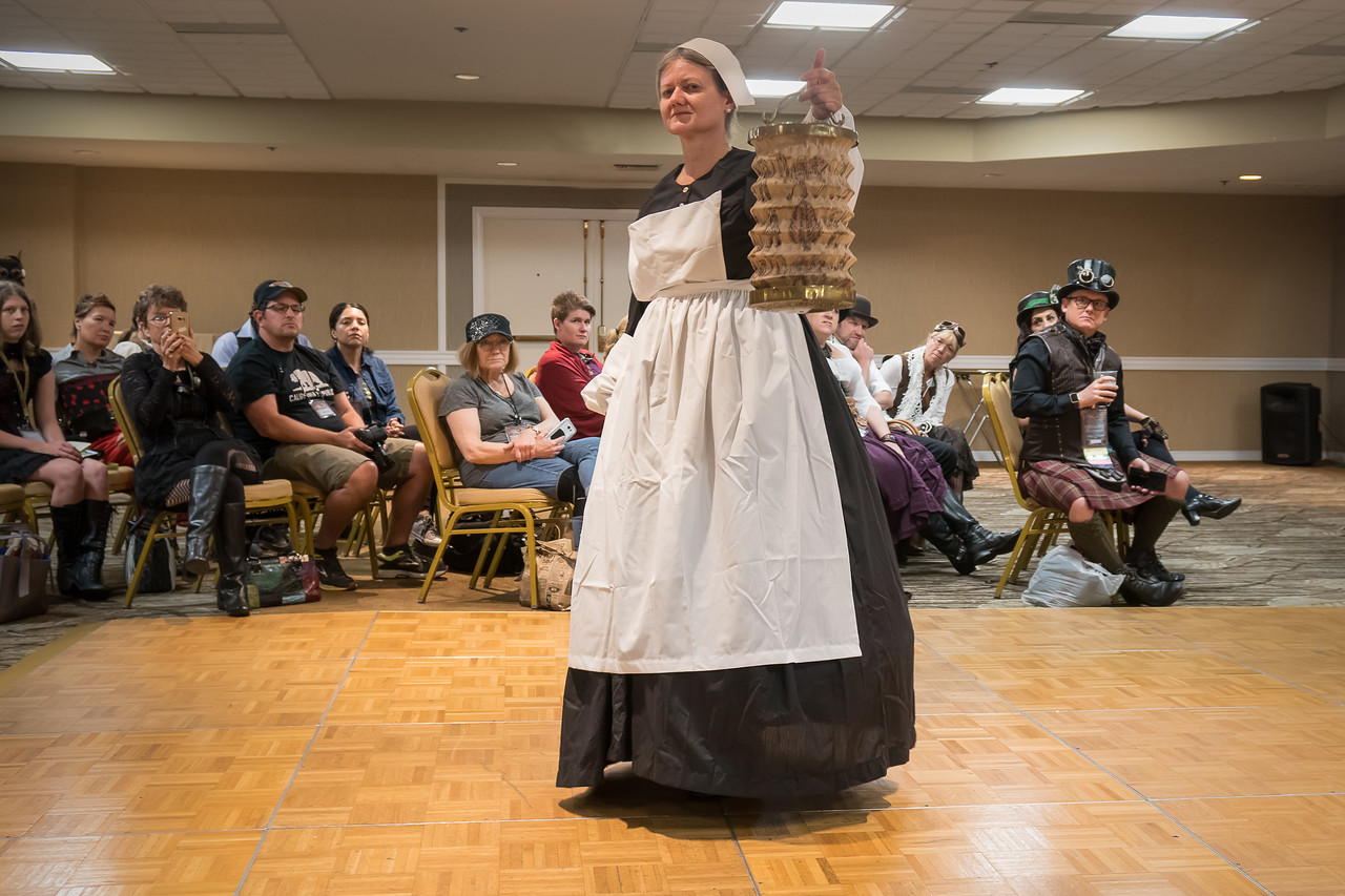 Florence Nightingale with her lamp at the Gaslight Gathering