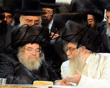 The Blezer Rebbe and The Klausenberger Rebbe of Netanya