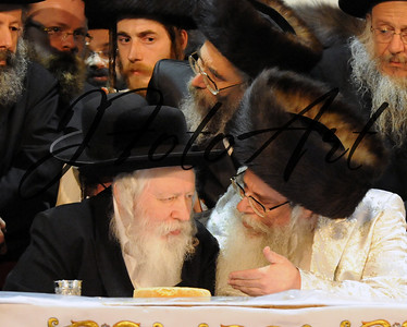 The Gerer Rebbe and the Klausenberger Rebbe of Netanya
