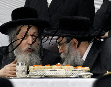 The Zvhiller Rebbe and The Klasuenberger Rebbe of Israel