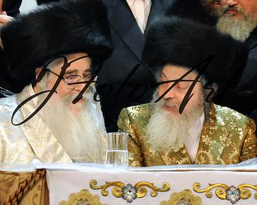 The Klausenberger Rebbe of Netanya  and the Zvhiller Rebbe