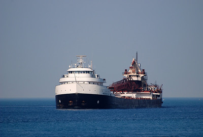 Large vessel on lake Huron