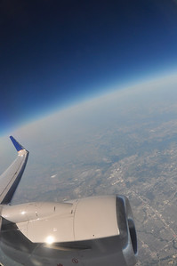 Flight from Calgary, Alberta to Houston, Texas at about 34,000 ft.