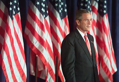 President George W. Bush visits Mississippi