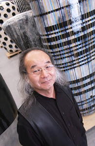 Famous artist, Jun Kaneko in his studio. Story for Delta Airlines