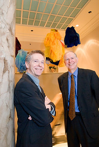 Speed Art Museum. Curator Julien with Director, Peter Morrin