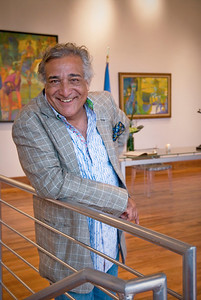 Portrait of gallery owner for PR and marketing usage.  Besharat Gallery, Atlanta GA