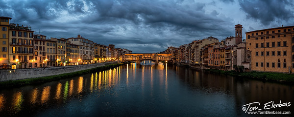 The Arno River and the Ponte Vecchio, Florence, Italy