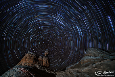 Star Trails at White Pocket, AZ