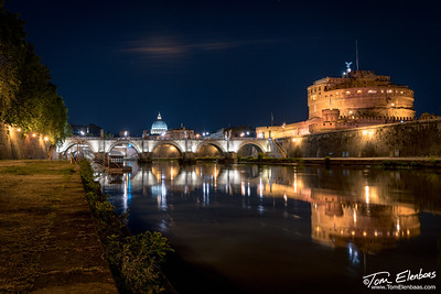 Castel Sant' Angelo and the Ponte Sant' Angelo, Rome, Italy