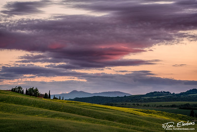 Tuscan Sunset, Val d'Orcia, Italy