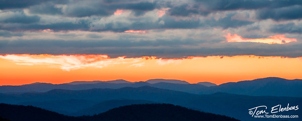 Sunset at Pounding Mil Overlook, Blue Ridge Parkway