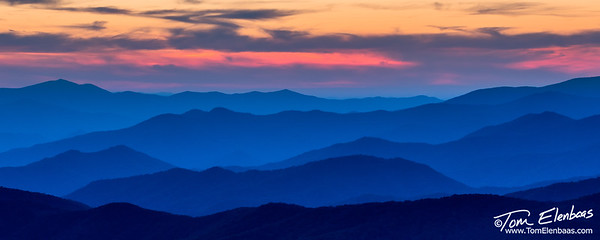 Sunset at Clingman's Dome, Great Smoky Mountains N.P.