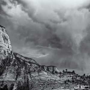 Lightning at Zion National Park