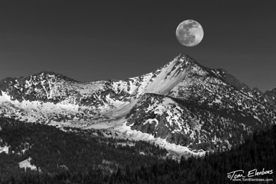 Moonrise Over Mt. Starr King, Yosemite N.P.